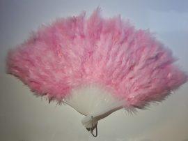 Marabutoll legyező 21 bordás rózsaszín színben