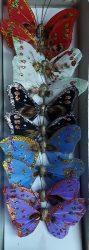 Dekor lepke, pillangó kitűző dróttal