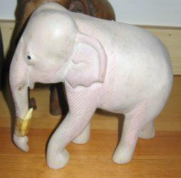 Elefánt 17 cm, fehér