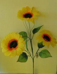 Napraforgó 3 virággal, 70 cm (mű)