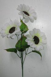 """Fehér """"Napraforgó"""" 3 virággal (mű)"""