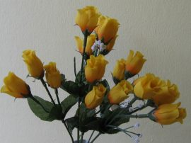 Bimbós rózsacsokor citrom