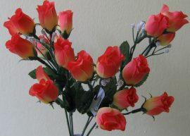 Bimbós rózsacsokor narancs