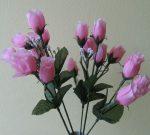 Bimbós rózsacsokor 18 bimbóval rózsaszín (mű)