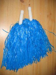 Pom pom kék színben, nyeles