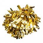 Metál pompom versenyzőknek arany színben, középfogós