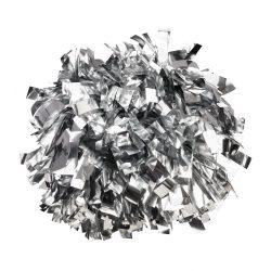 Metál pompom versenyzőknek ezüst színben, középfogós
