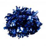 Metál pompom versenyzőknek kék színben, középfogós