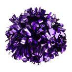 Metál pompom versenyzőknek lila színben, középfogós