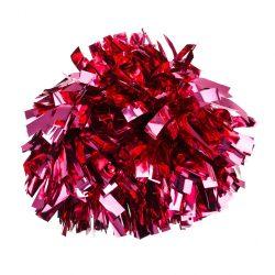 Metál pompom versenyzőknek pink színben, középfogós