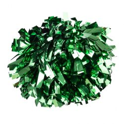 Metál pompom versenyzőknek zöld színben, középfogós
