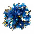 Fényes+pasztell pompom versenyzőknek kék-arany színben, középfogós