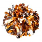 Fényes+pasztell pompom versenyzőknek narancs-ezüst színben, középfogós