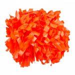 Plasztik pompom versenyzőknek narancs színben, középfogós