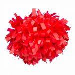 Plasztik pompom versenyzőknek piros színben, középfogós