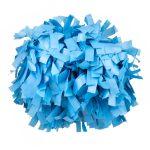 Plasztik pompom versenyzőknek világos kék színben, középfogós