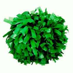 Plasztik pompom versenyzőknek zöld színben, középfogós