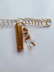Fényes szerpentin arany, 18 darabos