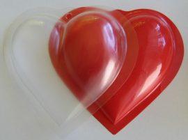 PVC szív 11 cm (2 db fél)