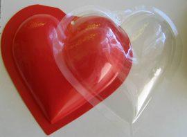 PVC szív 14 cm  (2 db fél)