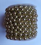 Gyöngyfüzér gurigán 8 mm-es 10 m arany