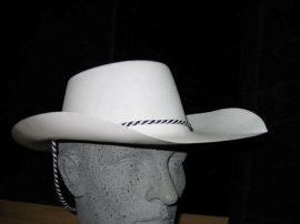 Sheriff kalap fehér színben, műanyag