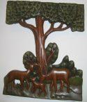 Szarvasok fali dekor 33 x 27 cm, barna