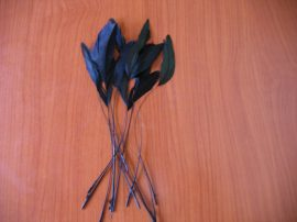 Vágott kakasfarok toll fekete