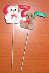 Karácsonyi maci pálcás  2 fajta