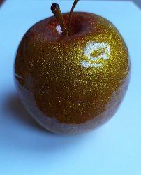 Dísz alma halogén csillogásban 7,5 cm arany