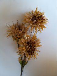 Barna krizantém 3 virággal