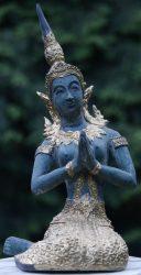 Szobor, bronz imádkozó