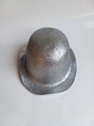 keménykalap, csillámos ezüst