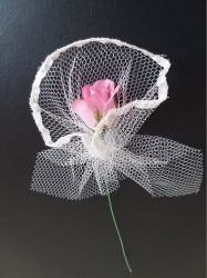Vőlegény kitűző,  rózsaszín rózsa