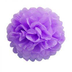 Pom-pom dekoráció, papír 34 cm lila