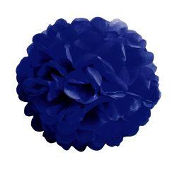 Pom-pom dekoráció, papír 34 cm sötét kék